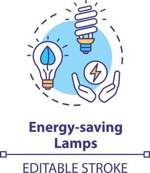 Energy saving lamp concept icon