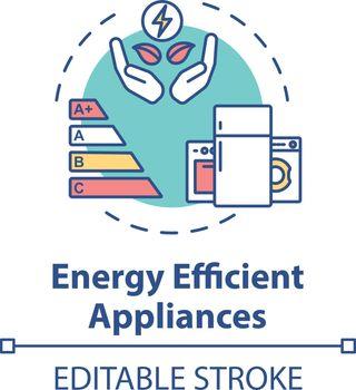 Energy efficient appliance concept icon