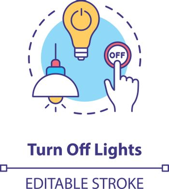Turn off light concept icon