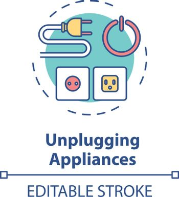 Unplugging appliance concept icon