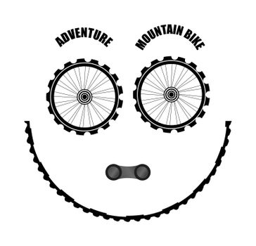 Bike icon. Bicycle. Sign for bicycles wheels Isolated on white background. Cycling concept. Trendy flat style for graphic design, logo, web site, social media, UI, mobile app