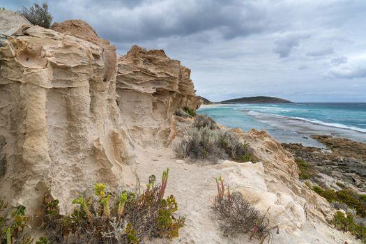 Nine Mile Beach close to Esperance on an overcast day, Western Australia