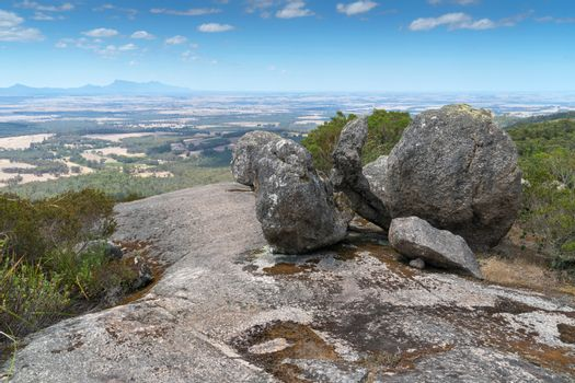Panoramic view over the landscape of the Porongurup National Park close to Albany, Western Australia