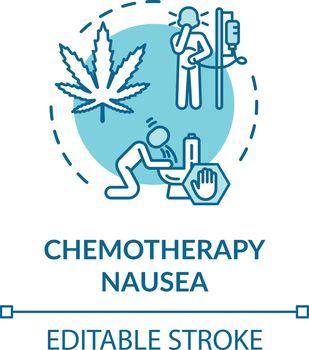 Chemotherapy nausea concept icon