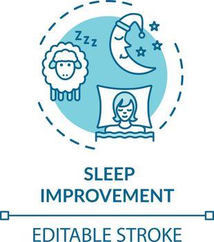 Sleep improvement concept icon