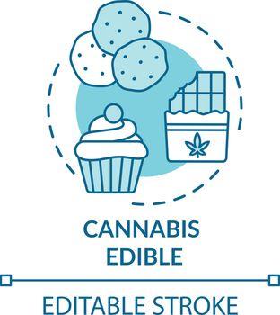 Cannabis edible concept icon