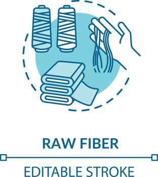 Raw fiber concept icon