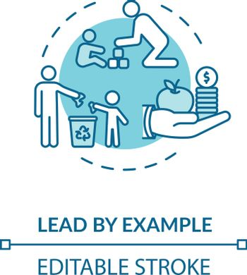 Lead by example concept icon