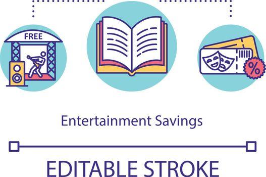 Entertainment savings concept icon