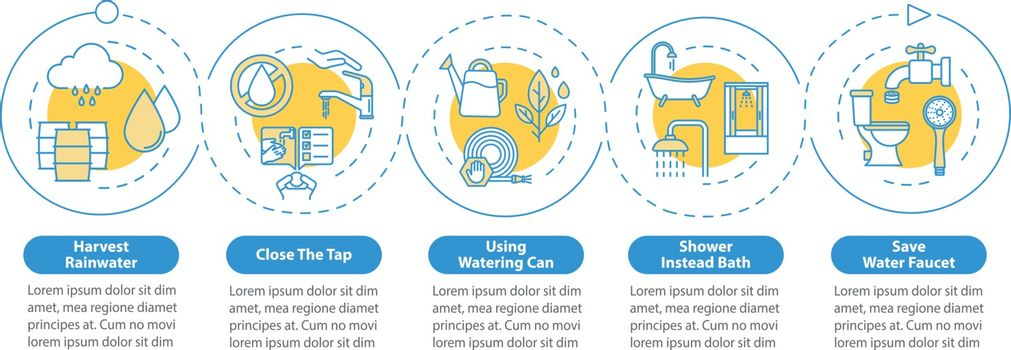 Water reuse vector infographic template