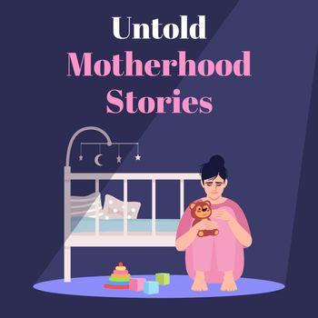 Untold motherhood stories social media post mockup