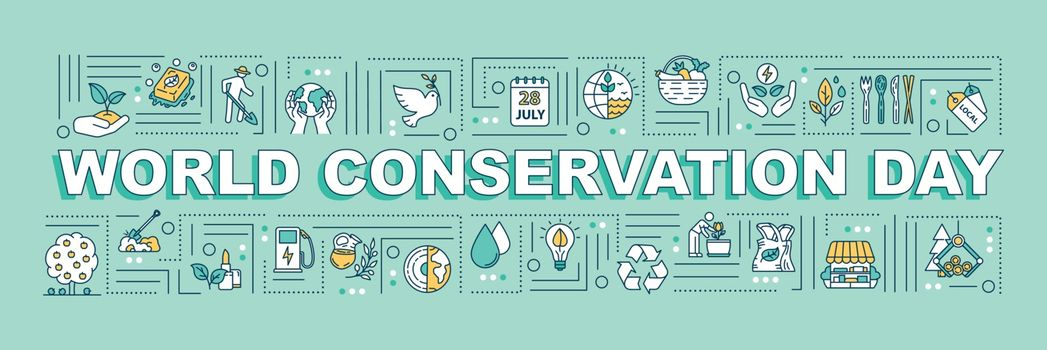 World conservation day word concepts banner