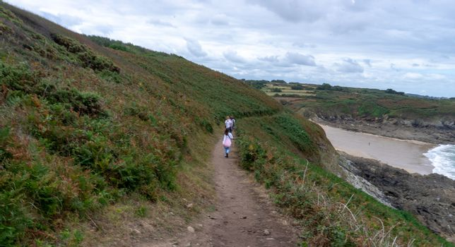 Hiking trails in France europe summer tourism of vacation