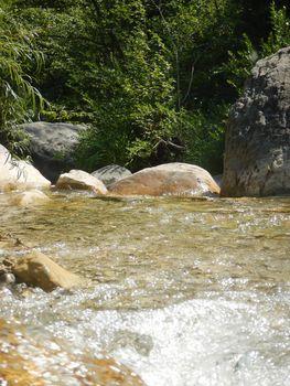Creek Rio Barbaira near Rocchetta Nervina, Liguria - Italy