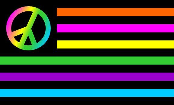 usa peace flag