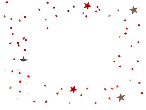 Frame made of scattering stars confetti on white background. Hol