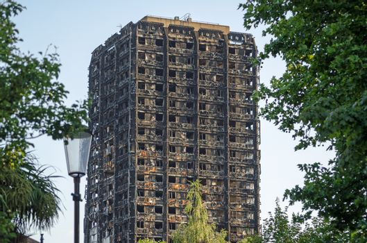 Grenfell Tower remains