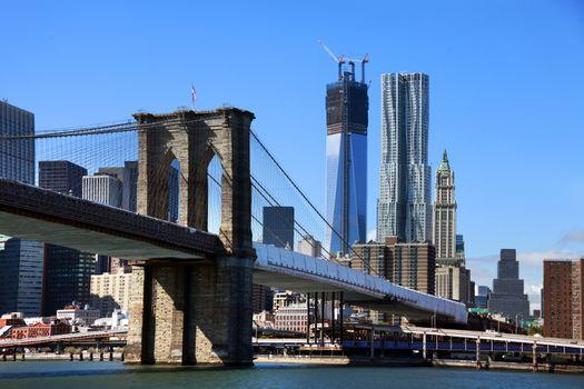 Brooklyn bridge from East river