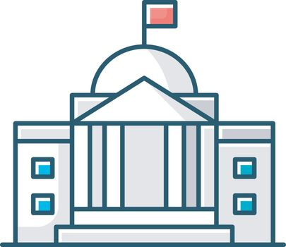 State institution front RGB color icon