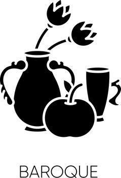 Baroque black glyph icon