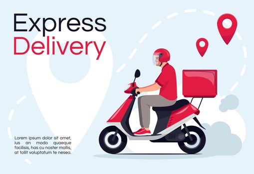Express delivery poster template