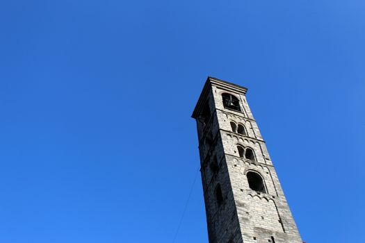 Romanesque italian bell tower