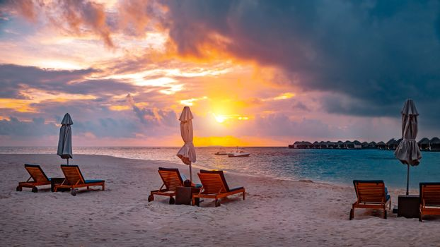 Peaceful relaxation on the beach