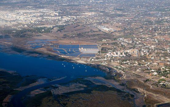 Livramento Salt Pans - Aerial View, Faro, Portugal
