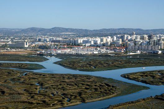Faro Salt Marsh - Aerial View