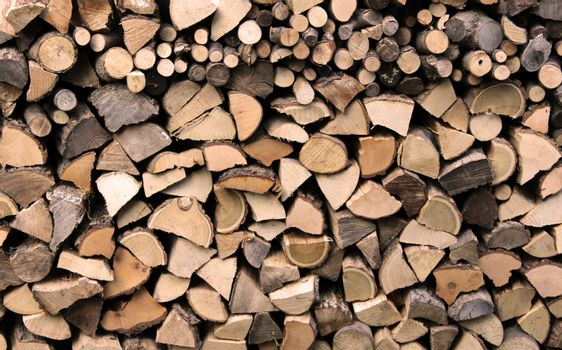 Woodpile used for fireplace texture