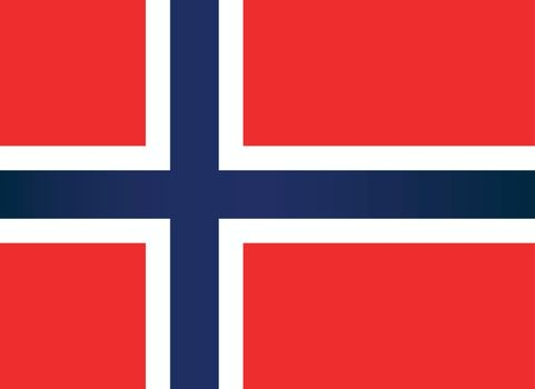 The national flag of the Scandinavian country of Norway