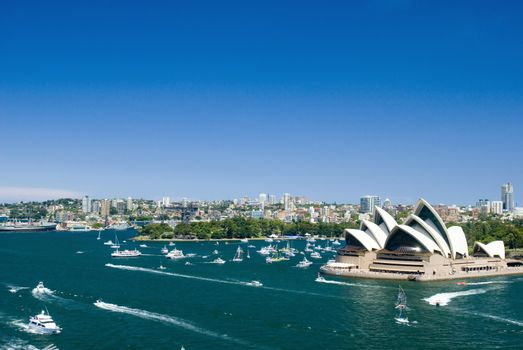 View of Sydney harbour and the Opera House