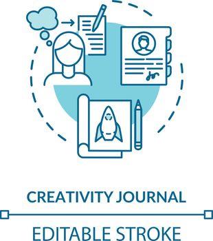 Creativity journal concept icon