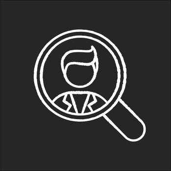 Vacancy chalk white icon on black background