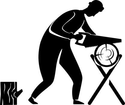 Carpentry silhouette illustration