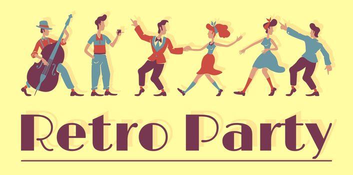 50s retro show banner template