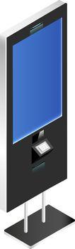 Vending kiosk with blank screen