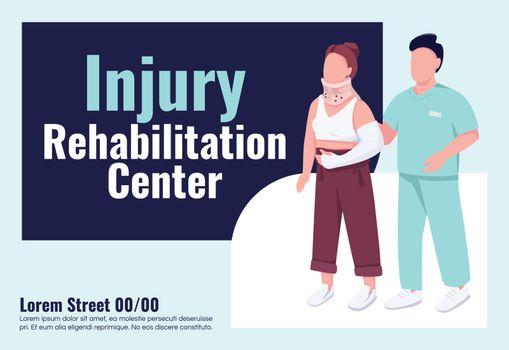 Injury rehabilitation center banner