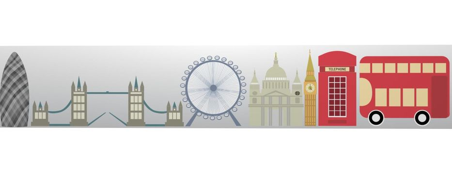 very beautiful city of london on white background - 3d rendering