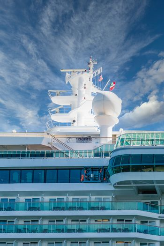 Satellite Equipment Over Cruise Ship