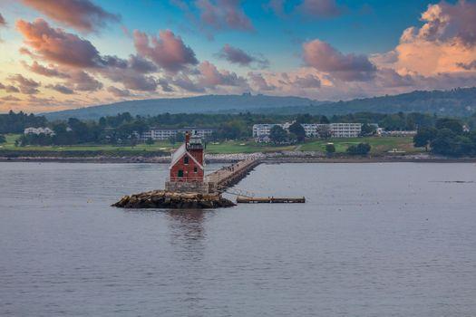 Small Lighthouse on Maine Coast