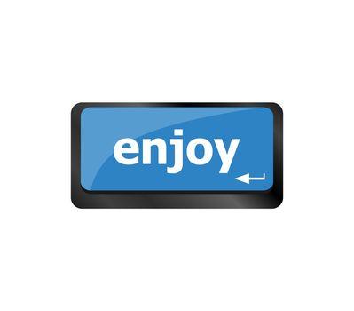 Enjoy Life Concept Aluminum Keyboard with Enjoy Text