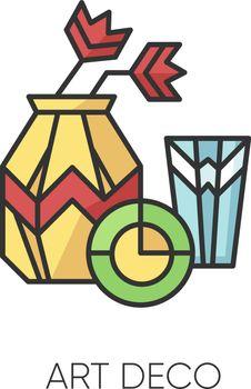 Art deco style RGB color icon