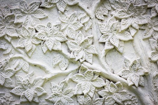 white stucco with flower texture
