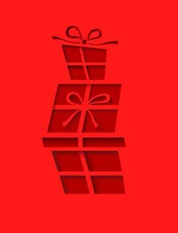 Presents stacked on each other vector