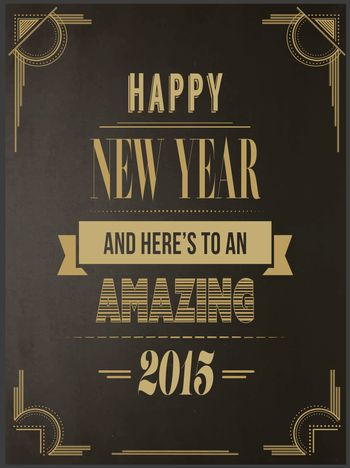 Happy new year vector in art deco style