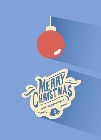 Merry christmas vector with bauble