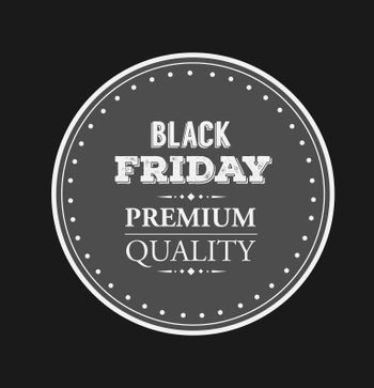 Digitally generated Black friday vector on badge