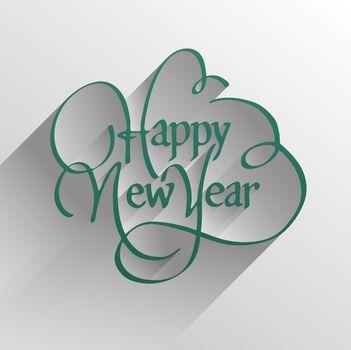 Digitally generated Stylish happy new year design