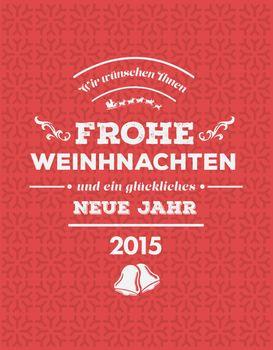 German seasons greetings vector
